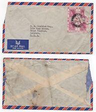 1957 HONG KONG QEII Air Mail Cover To GRAND JUNCTION COLORADO USA Lindblom