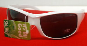 New MorMaii White Aviator Style Sunglasses  Glasses say MorMaii made in Italy.