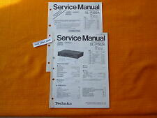 SERVICE MANUAL Technics SL P202A english Reparatur Anleitung Schaltplan