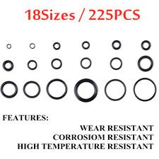 225PCS 18 Sizes Rubber O-Ring Washer Assortment Set Gasket Automotive Seal Kit.