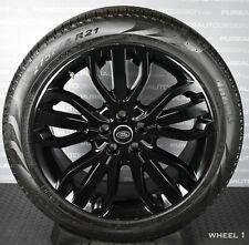 "Genuine Range Rover Sport 5007 21"" VIPER BLACK Alloy Wheels Pirelli Tyres TPMS 4"
