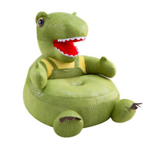 Cartoon Dinosaur Baby Sofa Seat Cover Learn To Sit Case w/o Filler (Green)