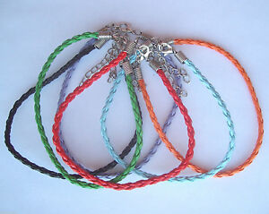 Plaited Leather Friendship Bracelet / Anklet - Various Colours