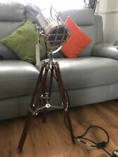 Royal Nautical Spot Light Floor/Table Lamp Wooden Tripod  Search Spot Light..