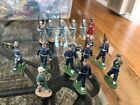 16 handpainted lead toys soldiers French issue 66 mm Jim Michel Clairet Starlux
