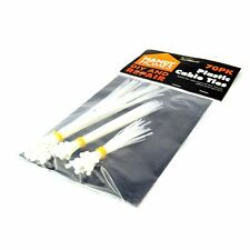 70Pk ASSORTED WHITE CABLE TIES Small Large Zip Wire Wraps Nylon Straps Tying