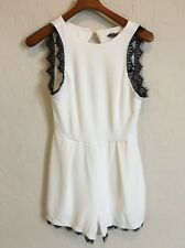 Love, Nickie Lew Nordstrom Juniors 9 White Lace Romper A283