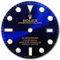 CUSTOMIZED SUBMARINER-40MM 2TONE BLUE BIG LUMINOUS DIAL FOR ROLEX