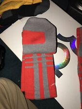 RARE NIKE HYPER ELITE PLATINUM UCONN ARIZONA DRI FIT BASKETBALL SOCKS L GREY RED
