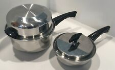 New listing Kitchen Craft by West Bend stainless steel sauce pans with lids - 1 qt & 2.5 qt