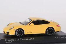 Porsche 911 (997 II) Carrera GTS 2011 gelb Minichamps 1:43 NEU/OVP