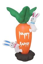 Air Blown Easter Inflatable Giant Carrot & Rabbit Yard Indoor Outdoor Decoration