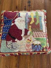 Santa Needlepoint Pillow  12 X 12""