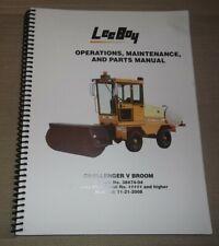 Lee Boy Challenger V Broom Operation Parts Maintenance Shop Repair Manual