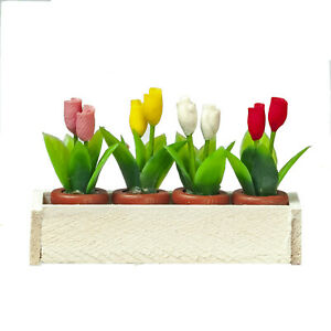 Dolls  House Accessories  Window Box with Tulips