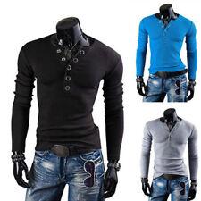 Markenlose Henley Langarm Herren-T-Shirts