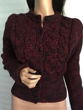 Auth. PRADA Milano Cable Chunky Knit Wool Cardigan Sweater sz 44