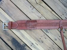 USED BACK CINCH SNAKE TOOLED LEATHER REAR CINCHES BILLET WESTERN HORSE GIRTH