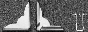 Buchecken Metallecken für Bücher Speisekarten 22 mm Schenkellänge