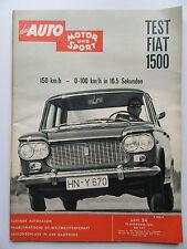 Auto Motor Sport 24/1961, Test: Fiat 1500, Turiner Autosalon
