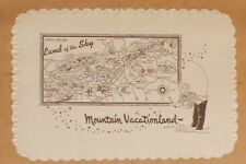Vintage Paper Placemat 1950s MOUNTAIN VACATIONLAND NORTH CAROLINA Map