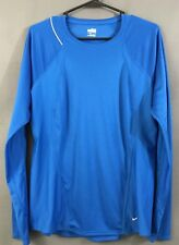 Nike Dry Fit Athletic Top Women's Large Blue