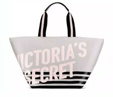 Victoria's Secret Grey Weekender Tote Canvas  Bag Zippered, New