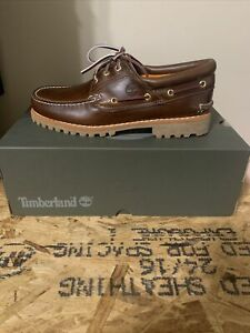 Timberland Icon 3-Eye Classic Handsewn Lug Shoes MD Brown TB06500A Size 9.5