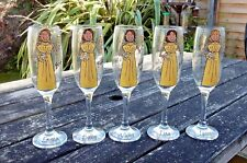 Personalised Painted Maid of Honour Bridesmaid Wedding Champagne Glass Favour
