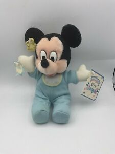 A Little Applause Disney Baby Mickey Mouse Plush Soft Stuffed Toy Animal Rattles