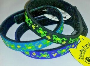 Beastie Band Cat Collars - =^..^= Purrfectly Comfy - PICK COLOR - JUMPING FROGS
