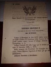 REGIO DECRETO 1870 DI CONVOCAZIONE DEL COLLEGIO ELETTORALE di GESSOPALENA