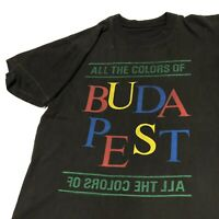 Vintage All of the Colors of Budapest T Shirt Mens Adult M Black Travel Vacation
