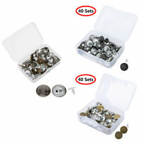 iiniim 50 Set Hexagon Caps Rivets Studs Leather Rivets for Leather Craft Repairing Decoration Gold 8mm