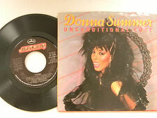 Donna Summer 45 w/ps UNCONDITIONAL LOVE / WOMAN ~ VG+ TO VG++