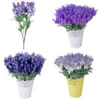 7/10Heads Lavender Bouquet Artifical Flowers Home Party Decoration Wedding Decor