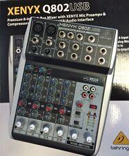 Behringer Xenyx Q802USB 8-Input Podcast Mixer Q802 USB Q 802 FAST SHIP - Perfect