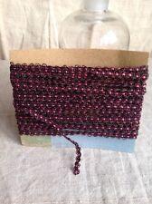 French rosa e treccia di rame antico Trim vintage forniture 4 YD nn.