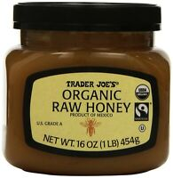 Trader Joe's Organic Raw Honey 16 Ounce (pack of 2)