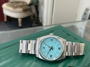 114200 2018 ROLEX OYSTER PERPETUAL 34MM STAINLESS STEEL WATCH BOX & PAPERS £5950