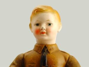 Antique Doll Composition WWI Soldier Doll World War I 'LIBERTY BOY' - IDEAL 1917