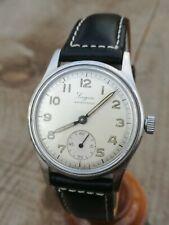 Rare Vintage LONGEAU by ENICAR Military Watch steel case wwr