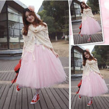 Womens Girls Ballet Tulle Skirt Dress Bridesmaid Party Princess Ball Gown Formal