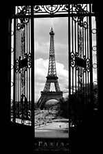 Eiffel Tower Poster Print 1909-Paris-Black and White, Photography, 24 by 36-Inch