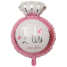 2 x I Do PINK Ring Engagement Large Shape Foil Balloon- Party Wedding Supplies