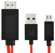 1080p MHL Micro USB a HDMI Adattatore HDTV Cavo Xperia SX SP GX T Z V TX