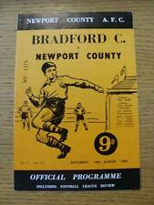 16/03/1968 Newport County v Bradford City