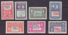 Liberia 333-37 & C68-69 MNH INVERTED CENTERS Map CV $350+++ (4 Unlisted)