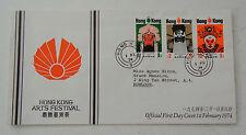 Hong Kong Fdc sc 296-298 Arts Festival