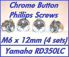 Philips Botón Carenado Tornillos (Cromo Plateado) - M6 X 12 mm-Yamaha RD350LC